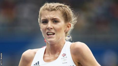 Beth Potter competes for Great Britain in the women's Olympic 10,000m final in Rio