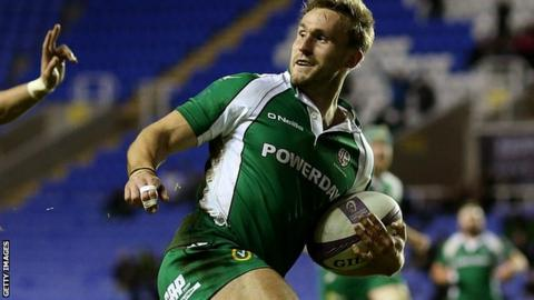 London Irish's Andrew Fenby