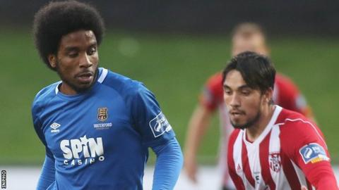 Figueira scored twice as Derry City beat Waterford in August's EA Sports Cup semi-final