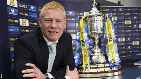Gary Holt with the Scottish Cup