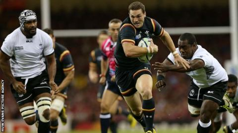 George North in action against Fiji