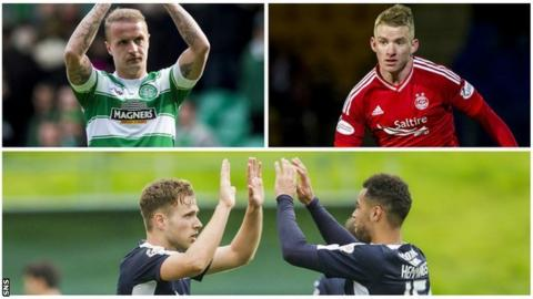 Leigh Griffiths, Jonny Hayes, Greg Stewart and Kane Hemmings