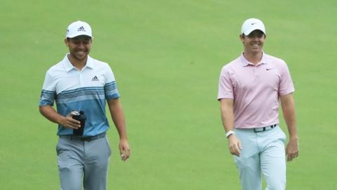 Tour Championship: Rory McIlroy one shot behind Brooks Koepka going into final round