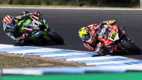 Alvaro Bautista has finished ahead of Jonathan Rea in each of the nine World Superbike races so far this season
