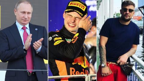 Vladimir Putin, Max Verstappen and Basta