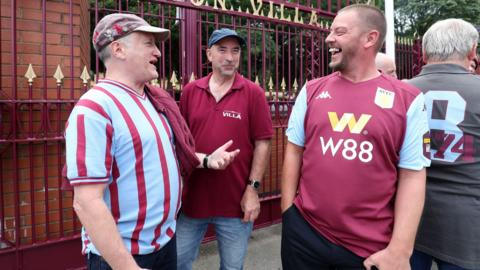 Aston Villa fans outside Villa Park