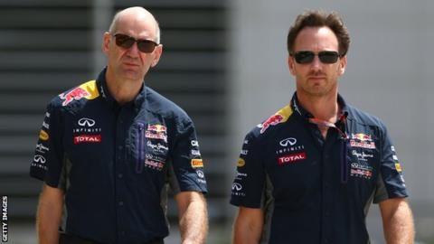 Adrian Newey and Christian Horner