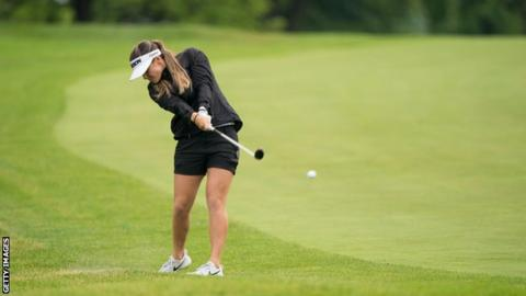 Hannah Green in action in the first round of the Women's PGA Championship