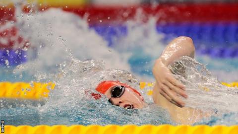 Daniel Wiffen beat Conor Turner's previous 800m freestyle Irish junior record by over two seconds