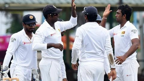 Sri Lanka celebrate a wicket