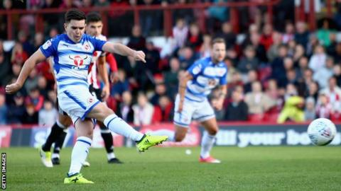 Liam Kelly (left) in action for Reading