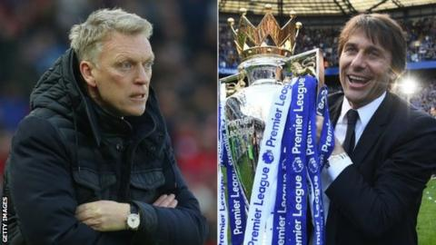 David Moyes and Antonio Conte had long spells at the bottom and top respectively
