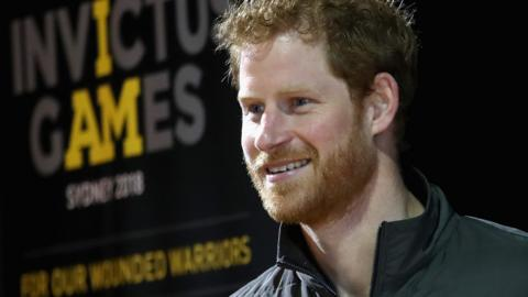 Prince Harry at the launch of the 2018 Invictus Games in Sydney