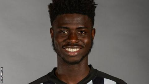 Newcastle United under-23 player Mohammed Sangare