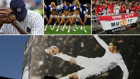 Real Madrid, Dallas Cowboys, New York Yankees and Manchester United