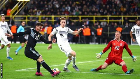Germany 2-2 Argentina: Visitors fight back from two-goals down to draw