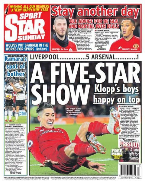 Star back page on Sunday