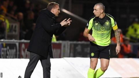 Brendan Rodgers and Scott Brown