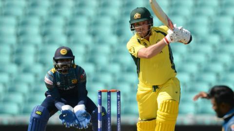 Australia's Aaron Finch hits out against Sri Lanka