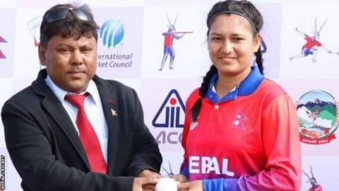 Nepal's Anjali Chand (right)