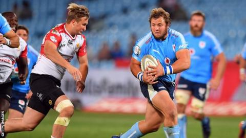 Pierre Schoeman in action for the Bulls