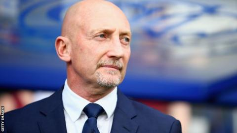Ian Holloway looks on from the sidelines