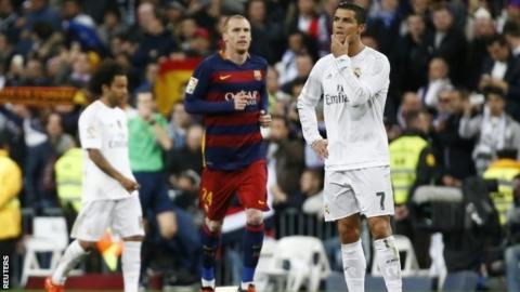 Real Madrid's Cristiano Ronaldo ponders his side's defeat by Barcelona