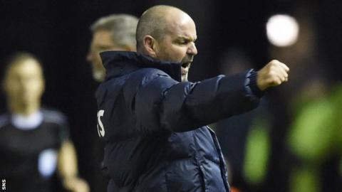 Kilmarnock manager Steve Clarke celebrates