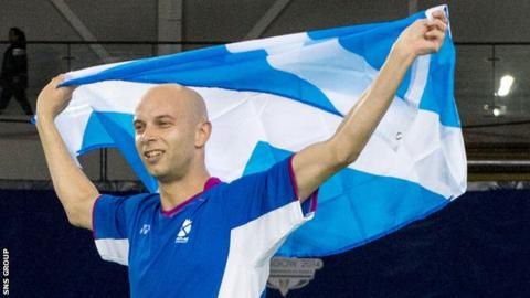 Robert Blair picked up a Commonwealth bronze medal at Glasgow 2014