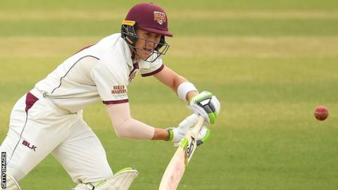 Marnus Labuschagne in action for Queensland