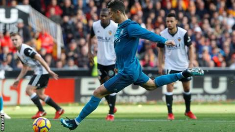 Valencia 1-4 Real Madrid - BBC Sport 8fdfc5f10