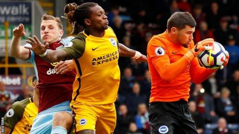 Brighton boss Chris Hughton: Burnley fans' booing of Gaetan Bong 'shameful'
