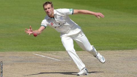 Worcestershire bowler Charlie Morris took 5-73 in Glamorgan's first innings
