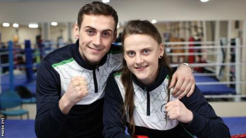 Aidan Walsh and his sister Michaela