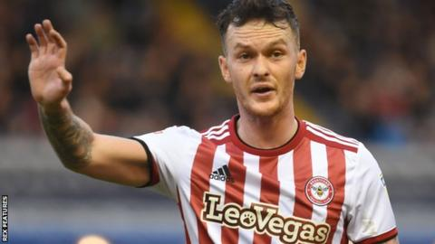 Josh McEachran in action for Brentford