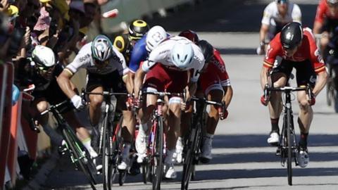Mark Cavendish and Peter Sagan