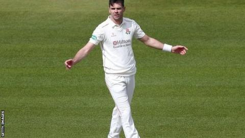 James Anderson took the 47th first-class five-wicket of his career - and 19th for Lancashire - but his first at Derby