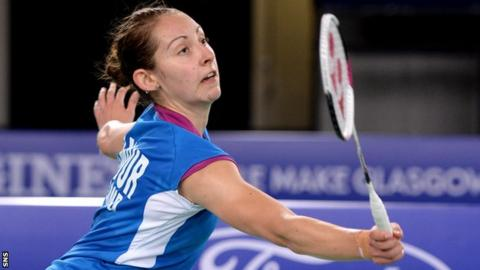 Kirsty Gilmour in action at this year's European Championships