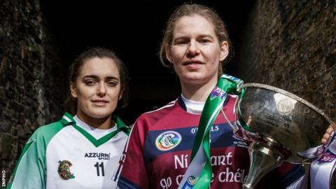 Orlaith McGrath of Sarsfields and Slaughtneil's Aoife Ní Chaiside will have to wait for the All-Ireland Camogie Club final to be rescheduled