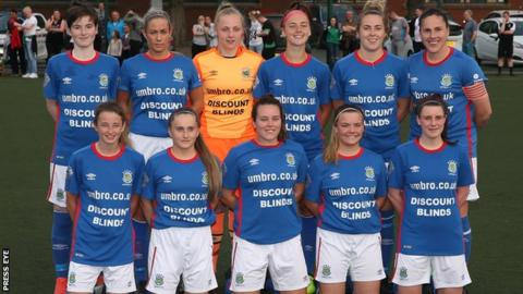 Linfield Ladies top the Irish Women's Premiership table after the opening seven rounds
