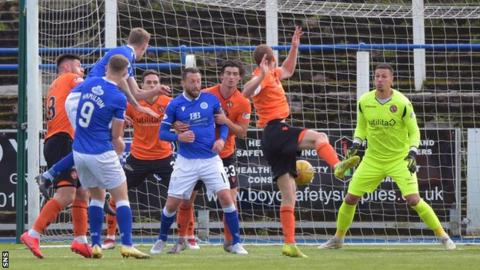 Kevin Holt's goal had Queens in command at the break