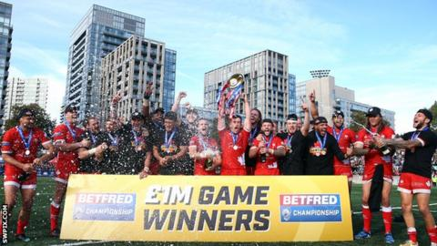 Toronto won promotion to Super League after winning the Million Pound Game 24-6 against Featherstone