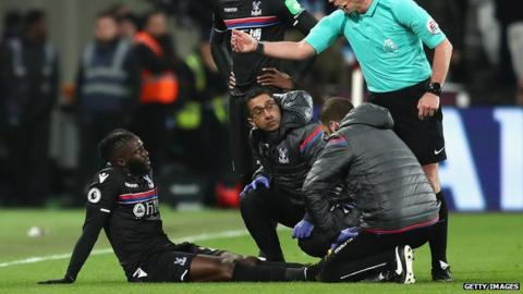 Crystal Palace's Bakary Sako to miss the rest of the season