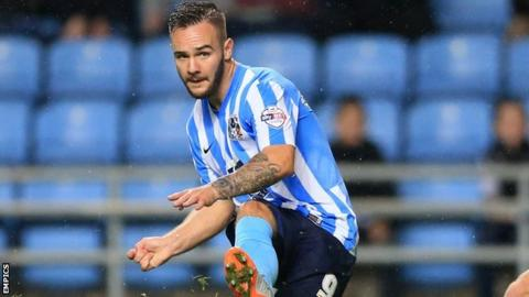 Coventry City striker Adam Armstrong