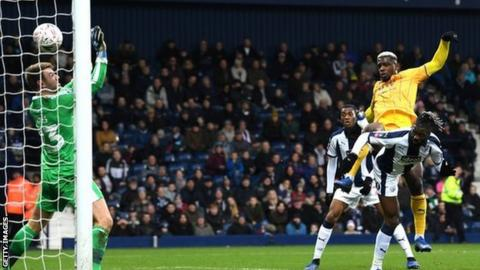 Bakary Sako scores his only goal for West Brom against Wigan