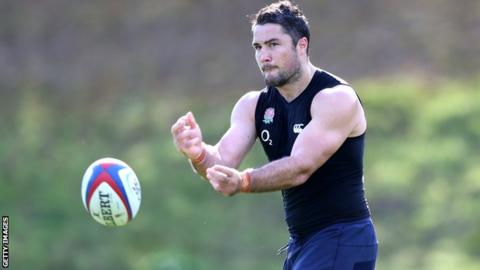 Brad Barritt pictured during England training