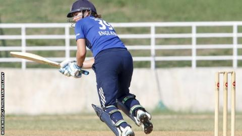 England's Nat Sciver plays a shot against the West Indies