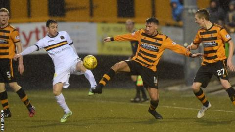 Alloa v Dumbarton was the only Championship game to go ahead