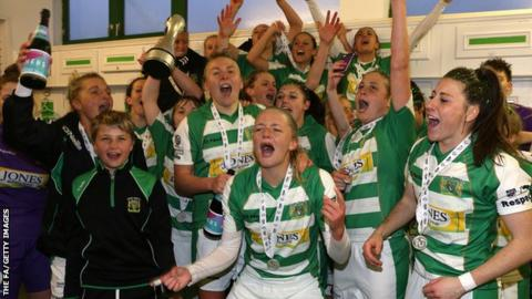 Yeovil Town Ladies celebrate