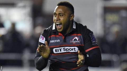 Junior Rasolea celebrates his winning try
